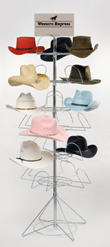Revolving Display Rack for 24 hats