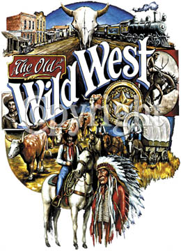 Tote Bag - Old Wild West - Black - Printed In The USA