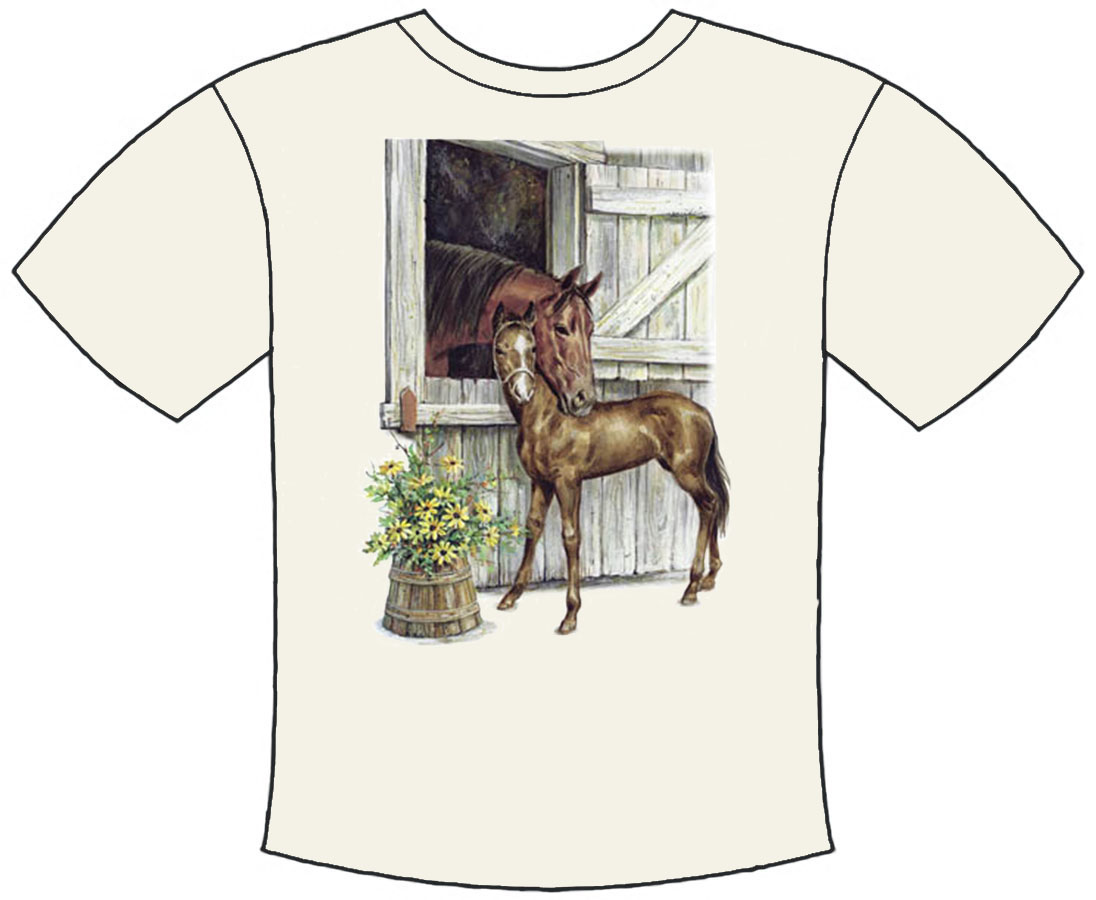 Mare And Foal Barn T-shirt Kids