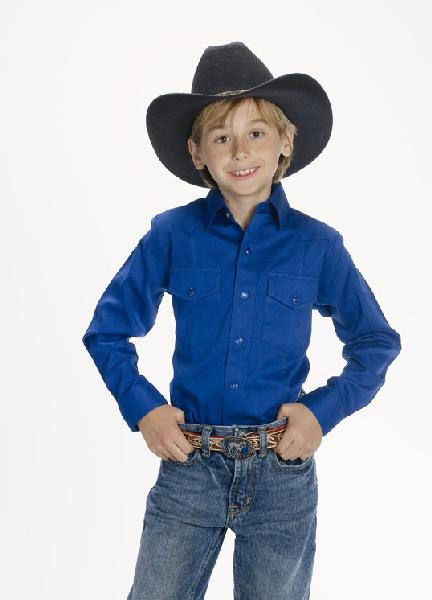 CHILD'S Western Shirt  ROYAL