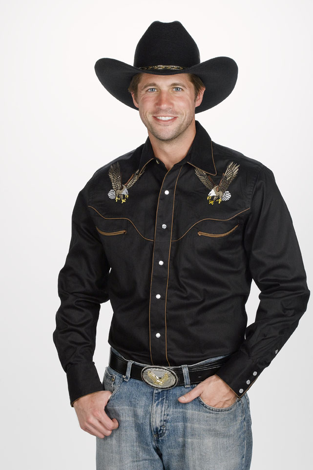 No real cowboy can leave home without a proper western shirt. At PFI Western store, we've got hundreds of great men's western shirts - all at great prices. Stylish designs by Wrangler, Ariat, Roper, Panhandle Slim, Cinch, Roar and even our very own PFI brand.