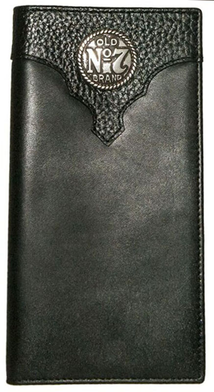 New - Old #7 Black Leather Rodeo Wallet