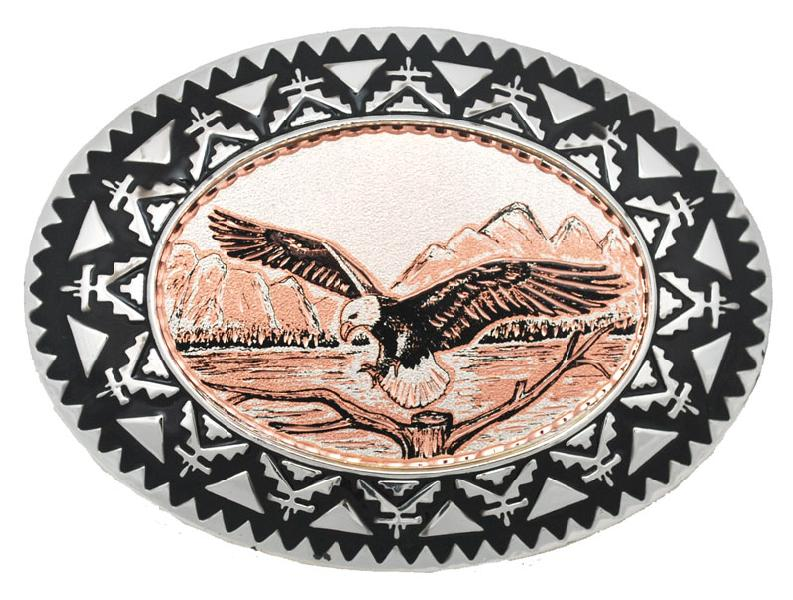 Copper Eagle Belt Buckle 3 1/2 x 2 1/2