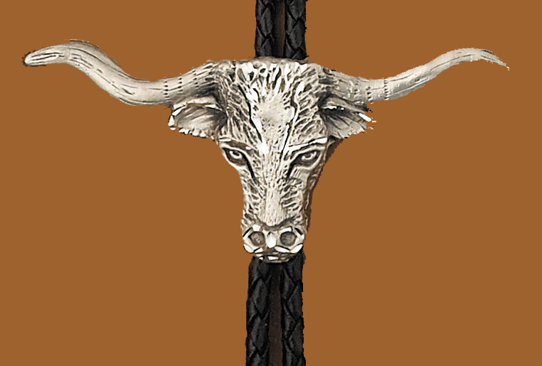 Longhorn Bolo Tie  Made in the USA