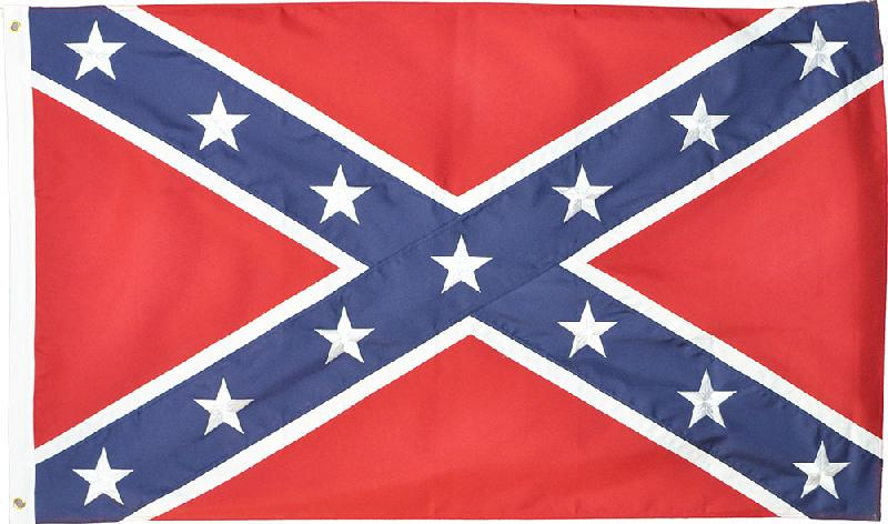 New - Rebel 3' x 5' embroidered flag - wo  z
