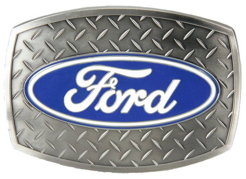 NEW - Ford Diamond Plate Buckle - 3-1/2 x 2-1/2  -website only