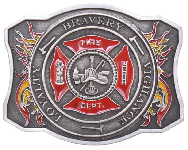 ''NEW Fire Dept Belt Buckle 3''''x 2-1/2'''' Made in USA''