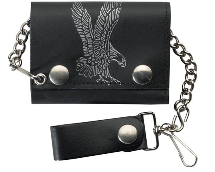 LEATHER Trifold Wallet Flying Eagle