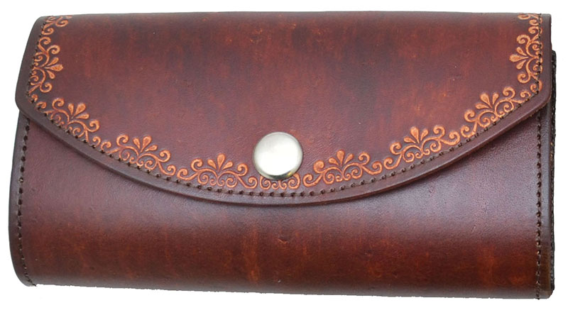 New - Ladies Leather Organizer Wallet - made in USA -  Brown - wo