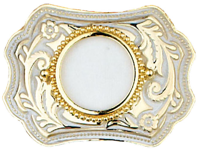 Belt Buckle holds silver dollar 3-3/4 x 2-3/4 MADE IN USA  d