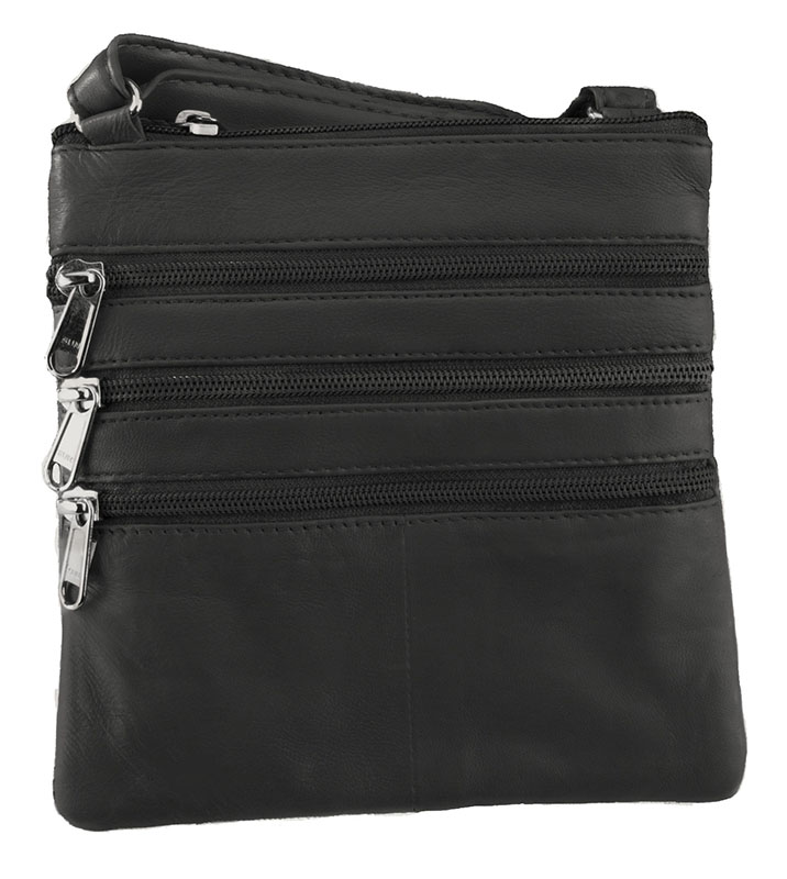 New - Dark Brown Cross body with 5 compartments