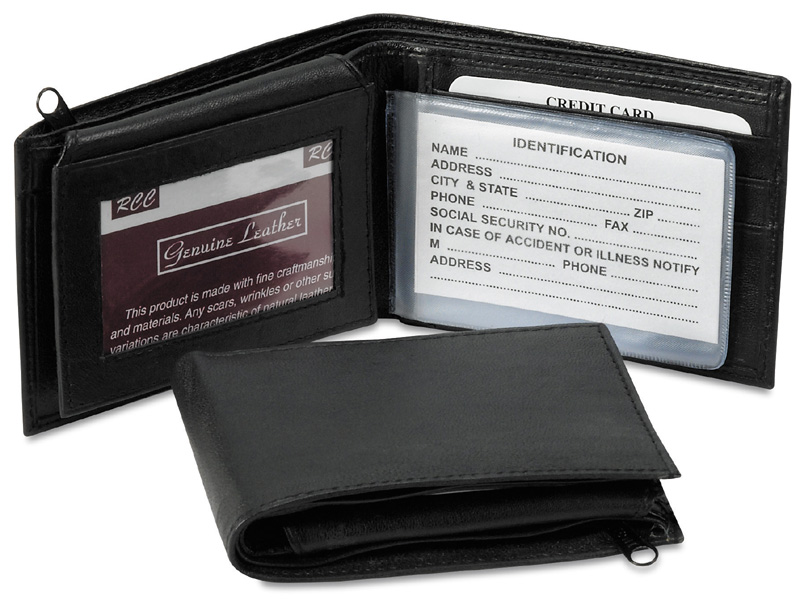 Leather Billfold Wallet/Black only