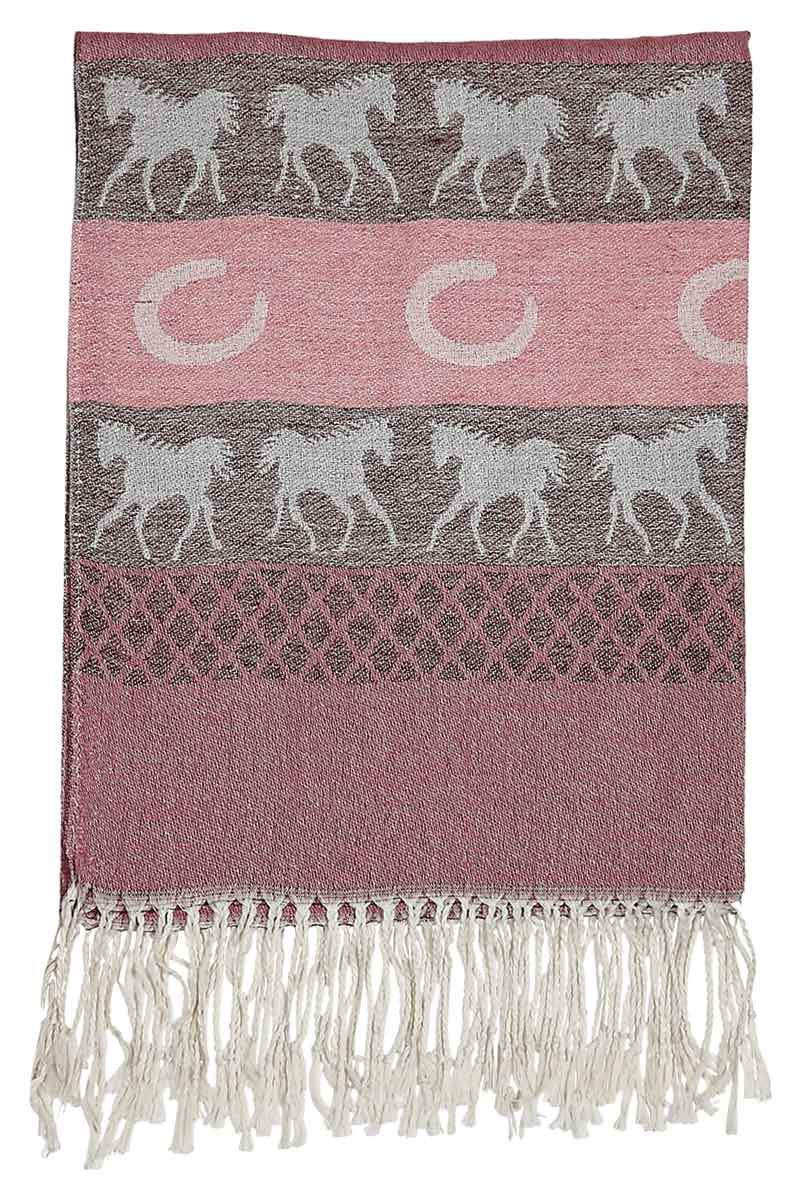New - Pink Equestrian Scarf