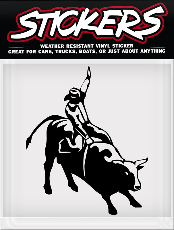 "New - Bullrider Sticker made in USA 4-1/2"" x 6"" - wo"