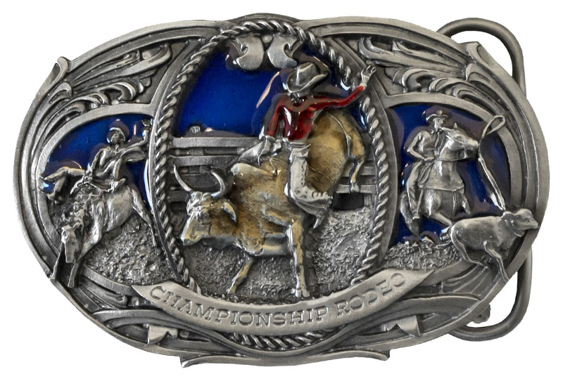 Small Championship Rodeo Belt Buckle 3 x 2 Made in USA  d