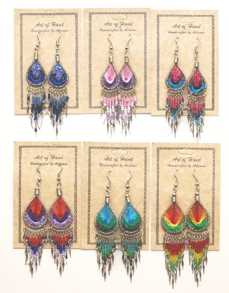 Handmade Threaded Earrings with DANGLES Assorted Styles