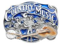 Country Music Belt Buckle 3-1/4 x 2-1/4 Made in USA - Made in USA