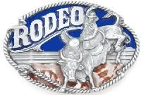 Rodeo Bullrider Belt Buckle 3-1/2 x 2-1/4 Made in USA - Made in USA