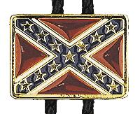 Confederate Flag Bolo Tie  Made in the USA - MADE IN USA