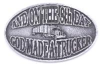 Special - New On the 8th day Trucker - Buckle - Made in USA 3-3/4 x 2-3/4 z