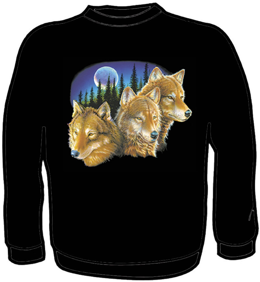 Sweatshirt Wolves Black Large *check shelf