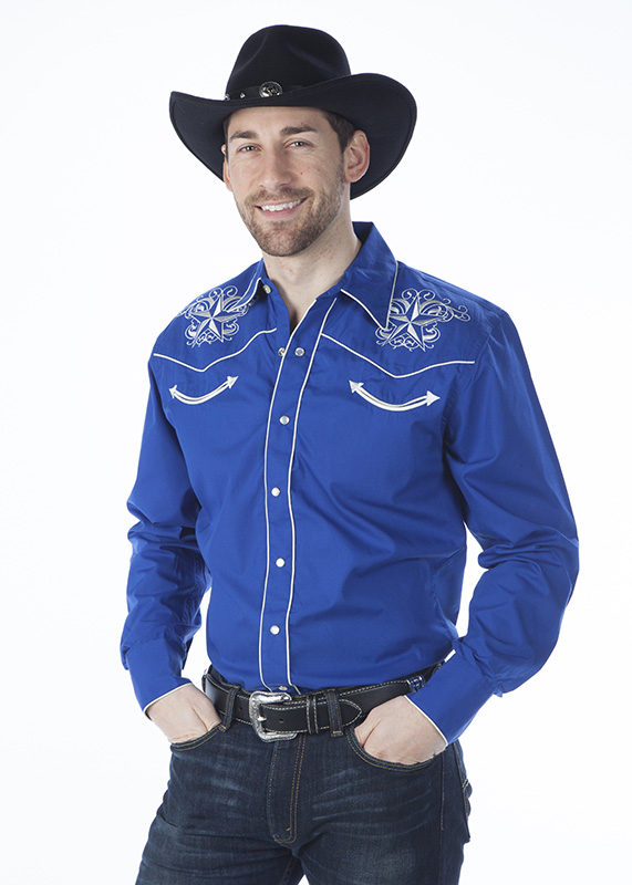 51% - 55% Off Special - Royal Men's Retro Western Shirt, Star Design