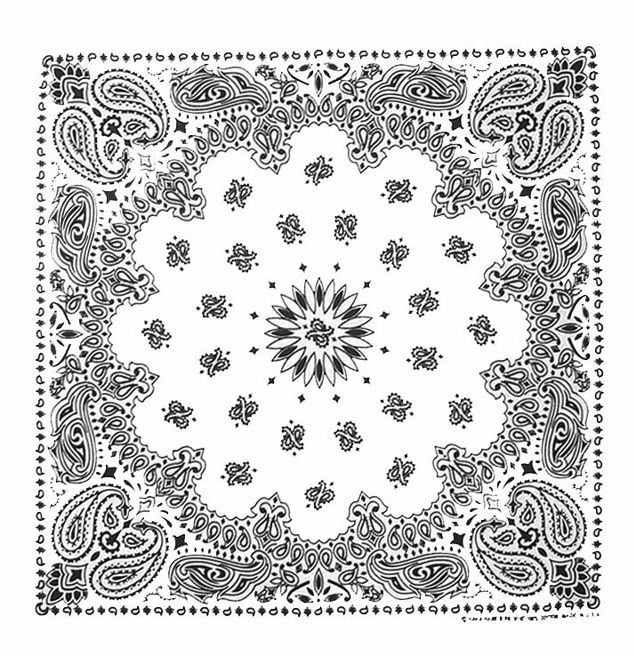 White Paisley Bandannas, 100% cotton, Made in  USA