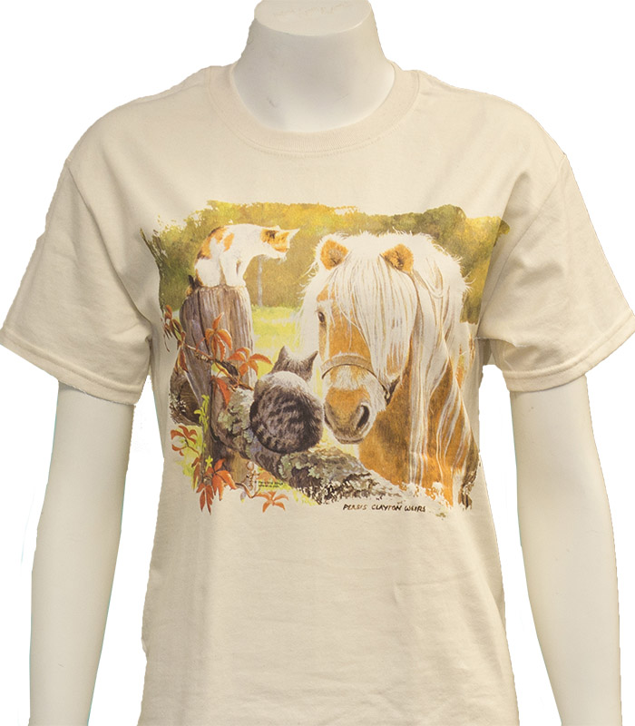 Horse And Cats T-Shirt
