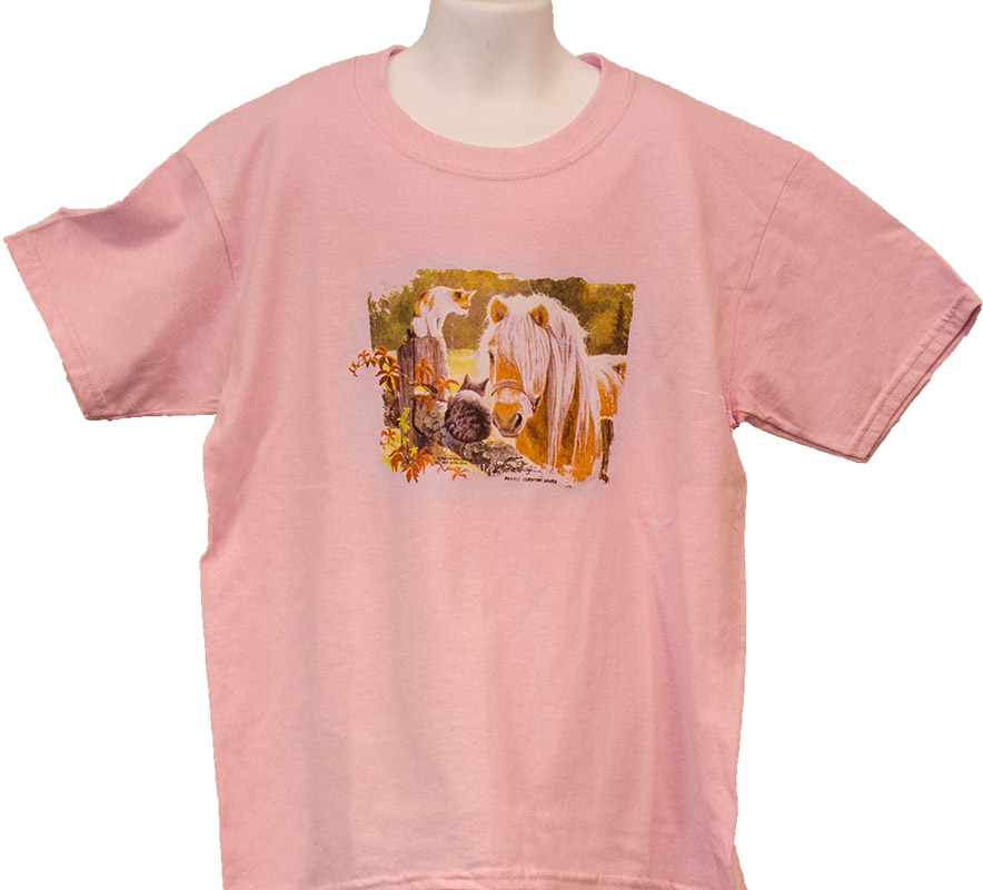 Horse And Cats T-Shirt Kids