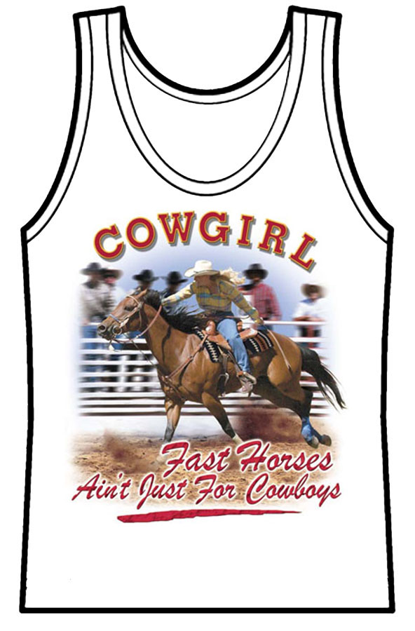 Ladies Tank Top Fast Horses