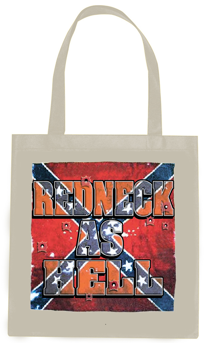 Tote Bag Redneck As Hell Natural