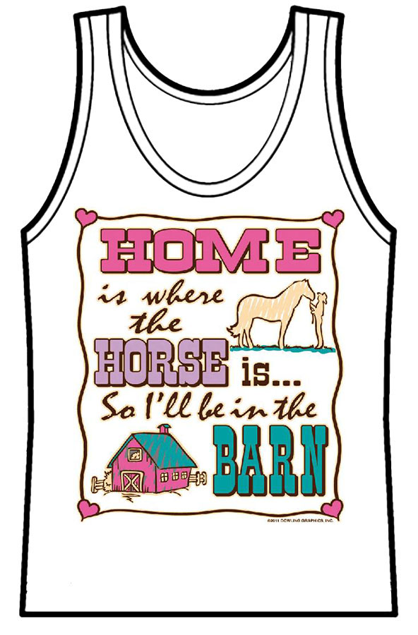 Ladies Tank Top Home Is Where