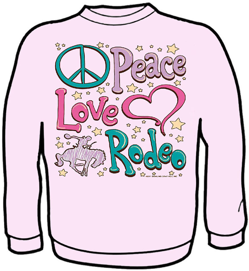 Peace Love Rodeo  SWEATSHIRT