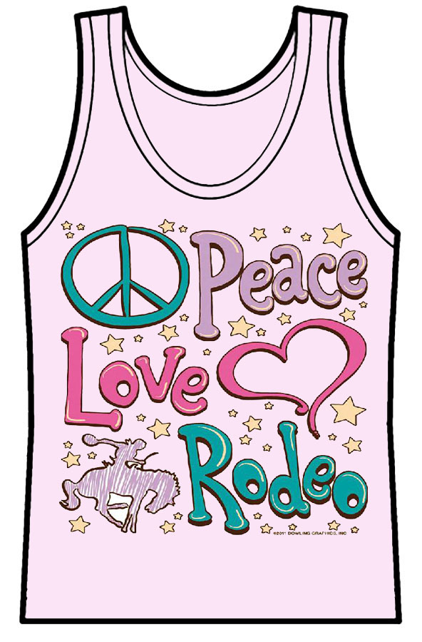 Ladies Tank Top Peace Love Rodeo