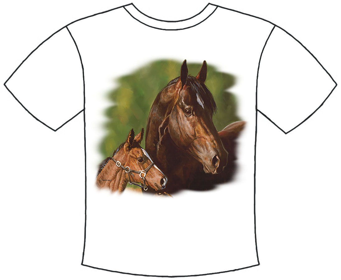 New - Mare & Foal T-Shirt