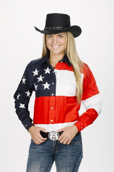Women's Stars An Stripes Western Shirt