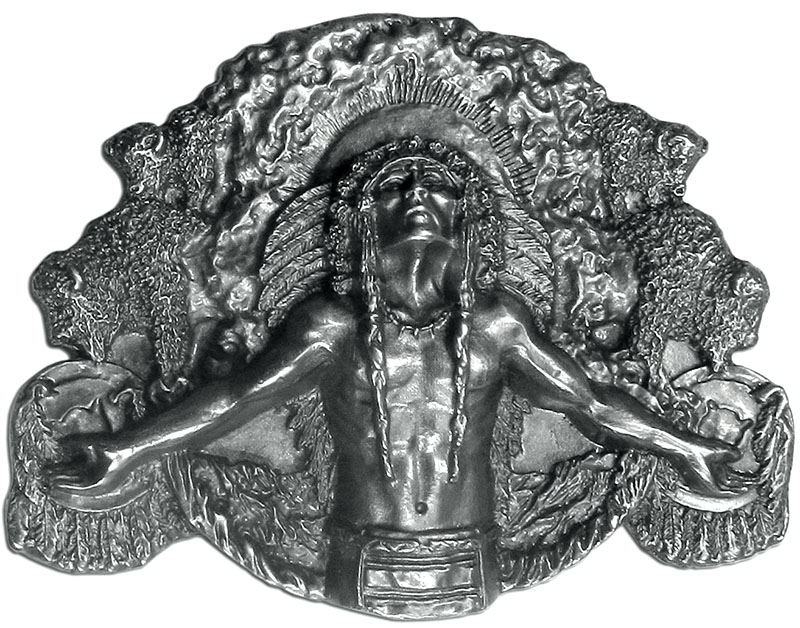 Made in the USA - Indian Chief Belt Buckle