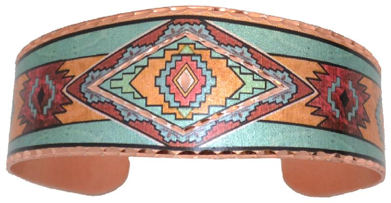 Copper Bracelet Color SW Native Design