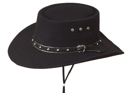 50% 0FF Closeout for Kids - BLACK Faux Felt Gambler Hat - Sized