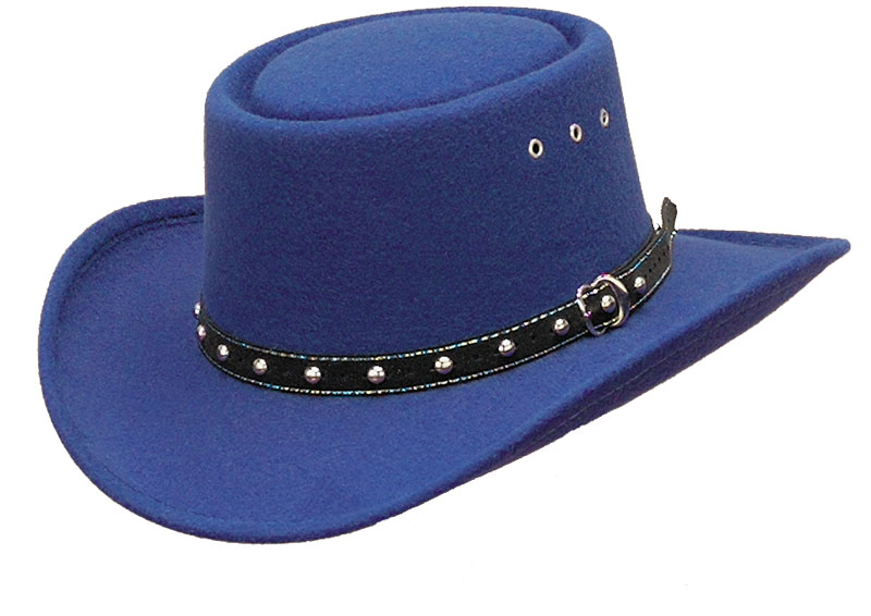 40% Off  *ROYAL* Faux Felt Gambler  Hat  - One Size Fits KIDS  d