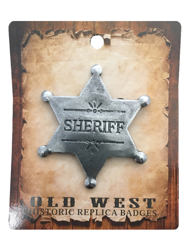 Badge - Sheriff with Floral - USA Made