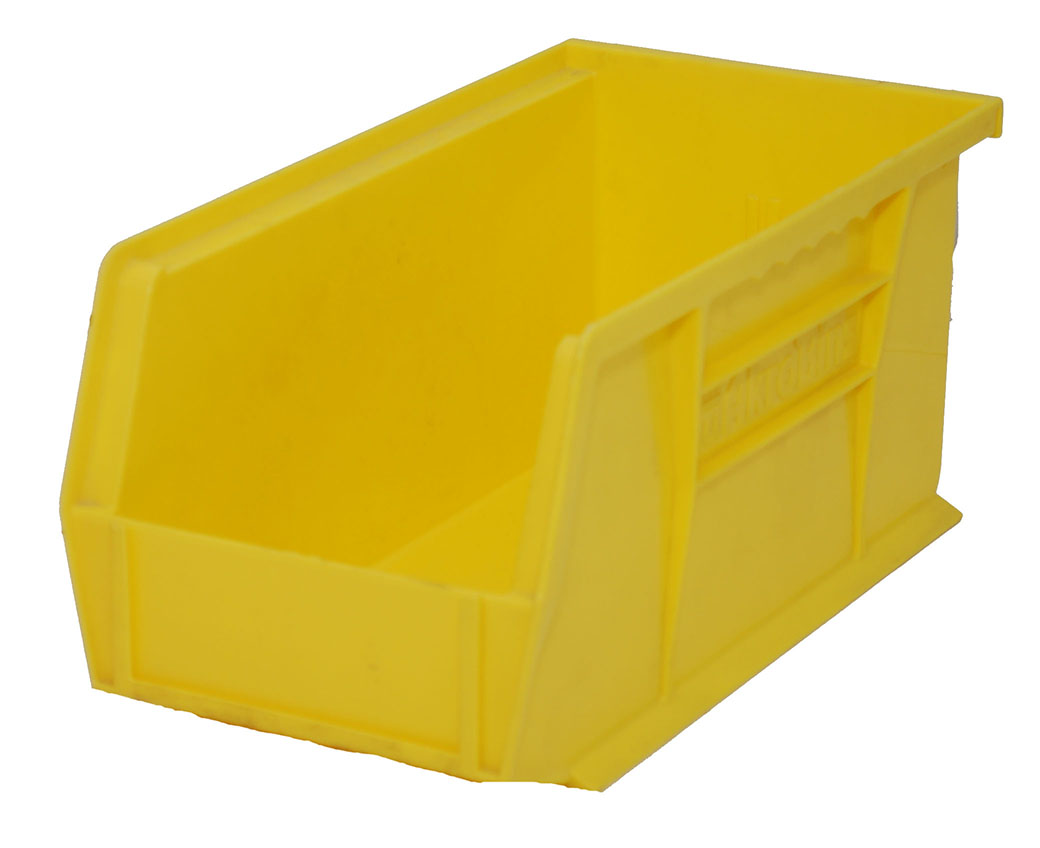 "75% Off Plastic Stackable Bin - Yellow  17"" X 5.5"" X 5"" Gently Used"