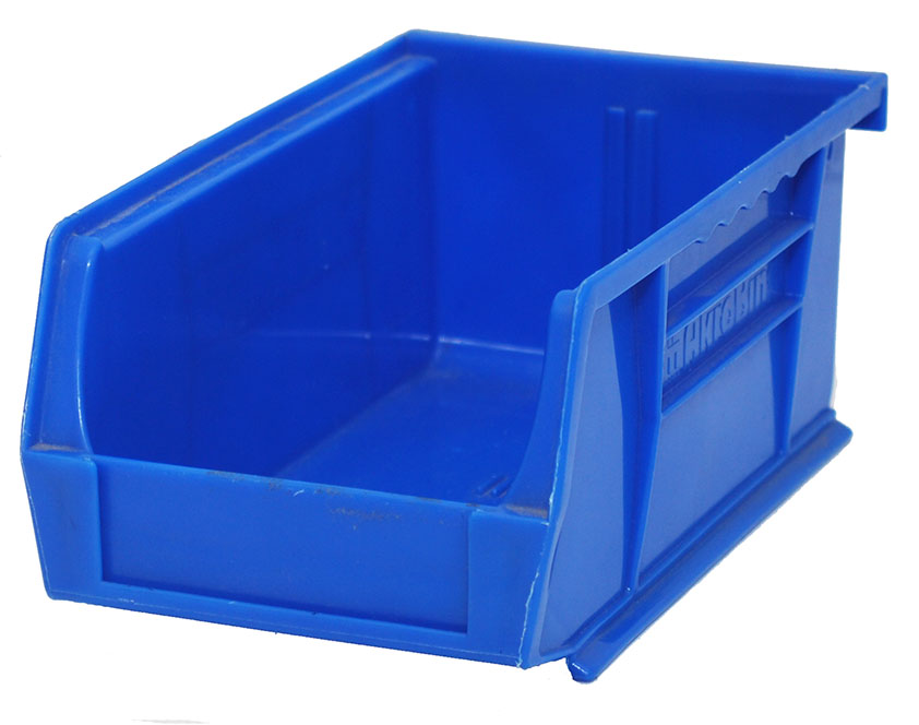 "74% Off Plastic Stackable Bin - Blue  11"" x 8"" x 7"" Gently Used"