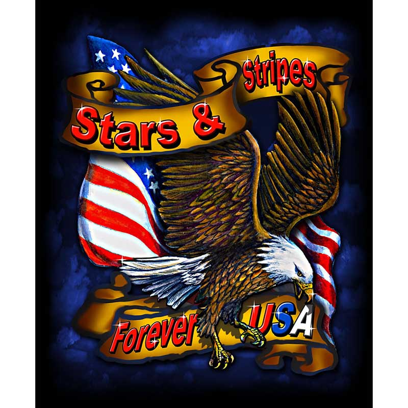 Blanket - Stars & Stripes Eagle - Fleece