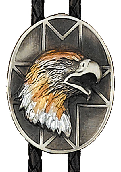 AVAILABLE SOON Tri-color Eagle Bolo Tie  Made in the USA
