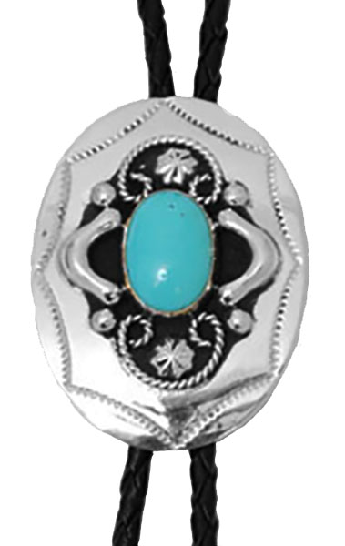 German Silver Bolo with Turquoise Stone