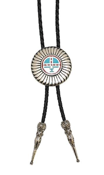 Kachina Sun Face Bolo Tie  Made in the USA