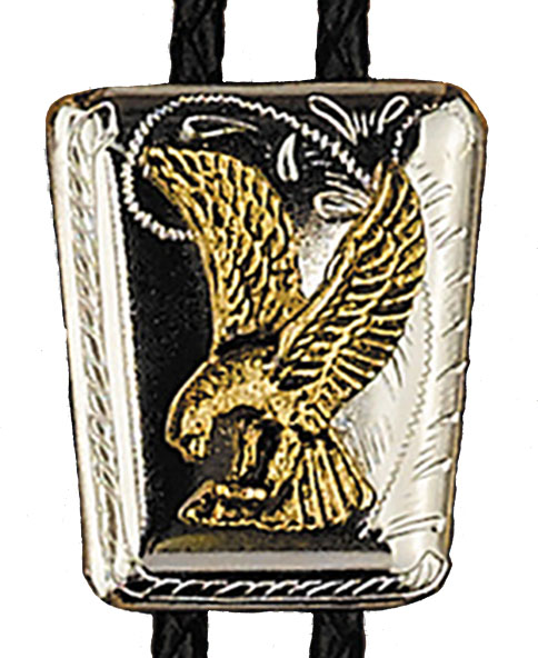 Eagle on Shield Bolo Tie Made in the USA