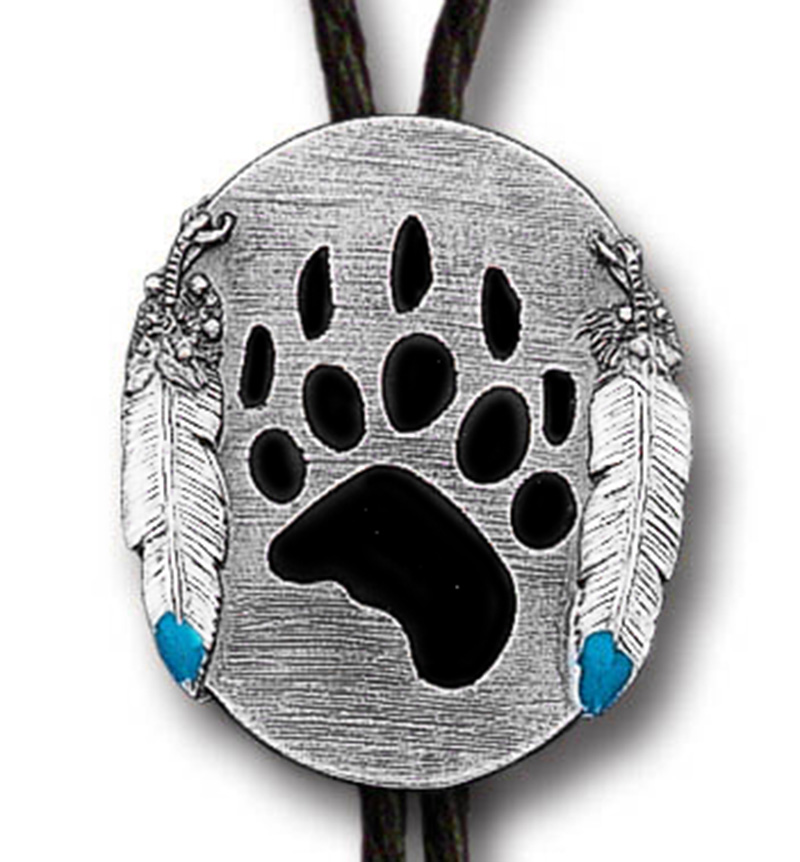 New - Grizzly Paw Bolo Tie  Made in the USA  wo