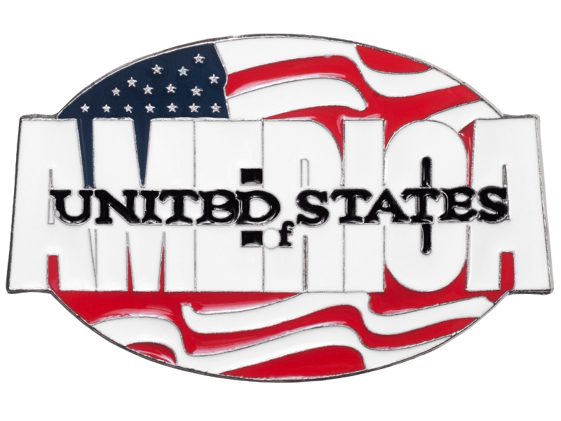 America on American Flag Belt Buckle *WILL BE DISCONTINUED